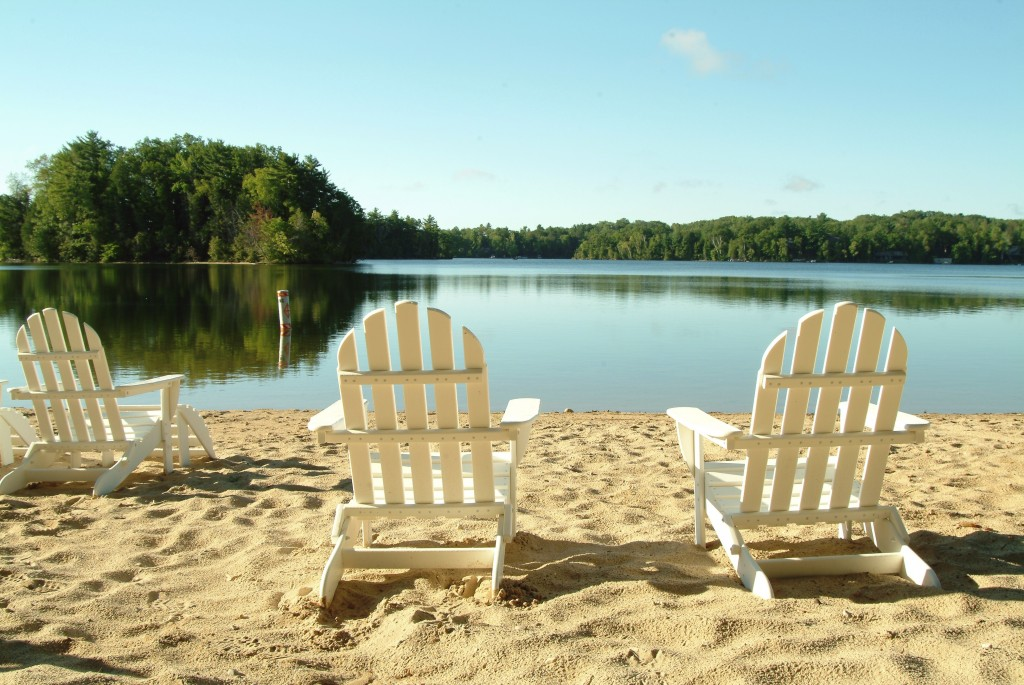 Enjoy the private beach in one of our beach chairs