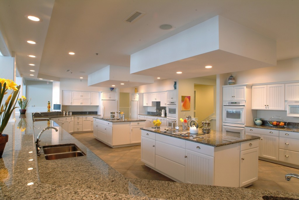 Our large kitchen makes serving large groups easy!