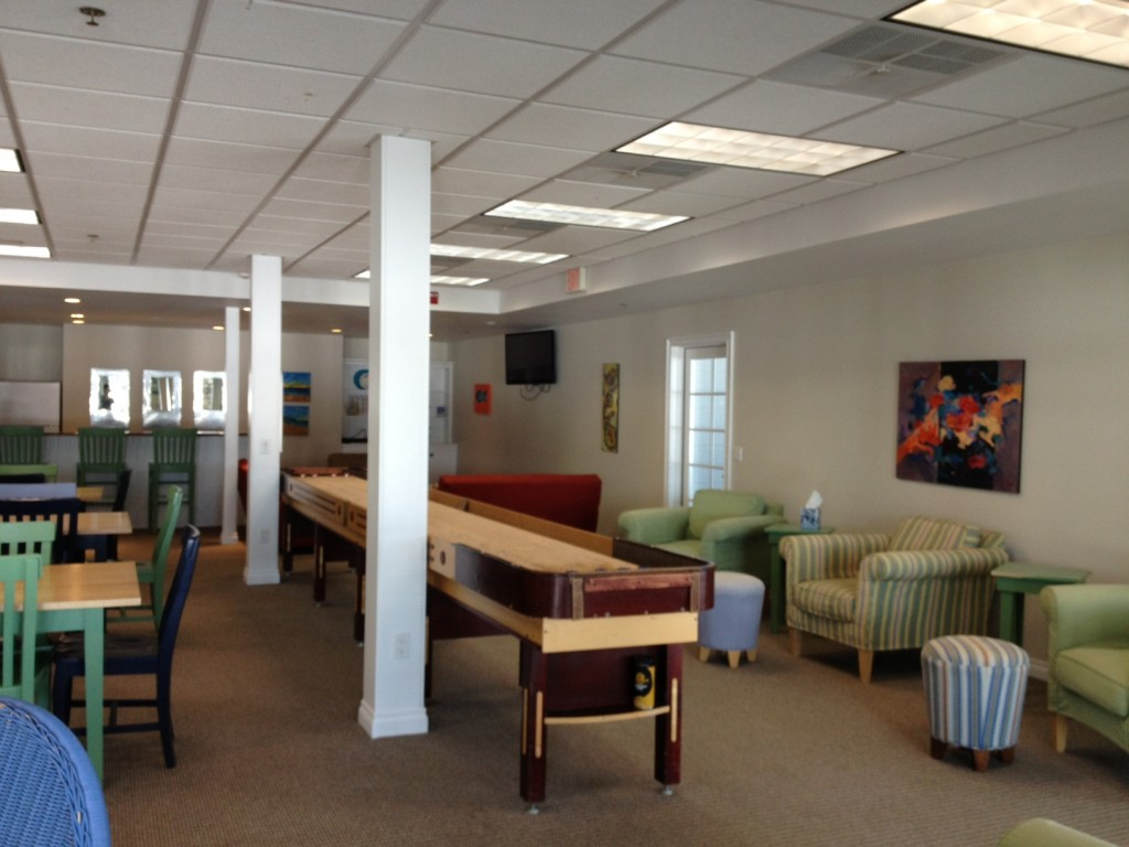 Everyone can have some indoor fun in the recreation room